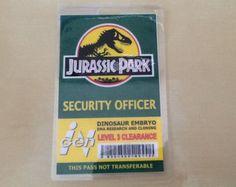 """Jurassic Park """"Security Officer"""" id pass - park pass"""