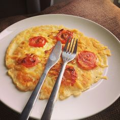 Tomato cheese pancake easy quick recipe
