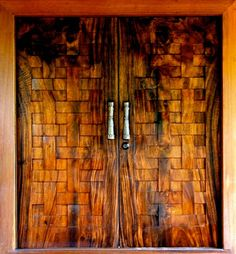 Tropical wood door--amazing
