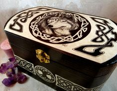 Hey, I found this really awesome Etsy listing at https://www.etsy.com/listing/227172070/wooden-celtic-wolf-box-wedding