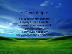 ✯ Crystal Tip: For A Better Atmosphere :: From Owl And Moon Crafters ✯