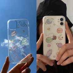 Cute Cases, Cute Phone Cases, Iphone Phone Cases, Purple Aesthetic, Witch Aesthetic, Galaxy Planets, Aesthetic Phone Case, Diy Phone Case, Buisness