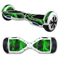 Green Flames Hoverboard Skin