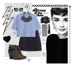 """Classic girl #audreyhepurn #classy #schoolgirl #outfitsforschool #workoutfit"" by soakmole ❤ liked on Polyvore featuring Oris, Chicnova Fashion, T By Alexander Wang, Eos, Paper Mate, Forever 21, Quay, Kate Spade, NARS Cosmetics and Marc Jacobs"