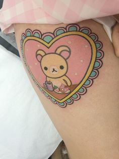 Rilakkuma Tattoos That Are So Kawaii You'll Die! Neue Tattoos, Body Art Tattoos, Sleeve Tattoos, Tattoo Girls, Girl Tattoos, Tatoos, Pastell Tattoo, Pumpkin Tattoo, Trendy Tattoos
