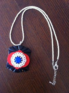 Upcycled vintage Bakelite pendant necklace