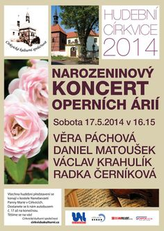 Next performance is birthsday Concert of arias in Církvice(North Bohemia-CZ). Here will  be a lot of singing with my good friends and last teacher!:) Věra Páchová-mezzosoprano, Radka Černíková-soprano, Daniel Matoušek-tenor, Václav Krahulík-piano. #dvorak#puccini#verdi#donizetti#mozart#gounod#bizet#offenbach#laragranada