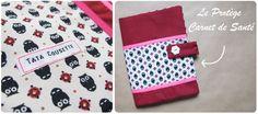 Le Mercredi c'est tuto #4 : Le protège carnet de santé – Tata Cousette Baby Couture, Couture Sewing, Diy Pour Enfants, Techniques Couture, Handmade Bags, Fabric Crafts, Sewing Projects, Gift Wrapping, Kids