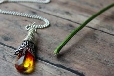 Southwest Sunset Teardrop Necklace with Swarovski crystal Pendulum Swing Sale #ArtistiqueJewelry