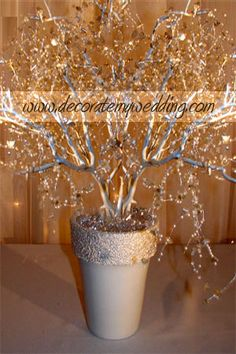 crystal and pearl wedding tree