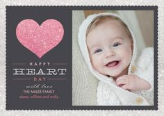 Shimmering Sentiment - Valentine's Day Photo Cards - Hello Little One in Watermelon Pink