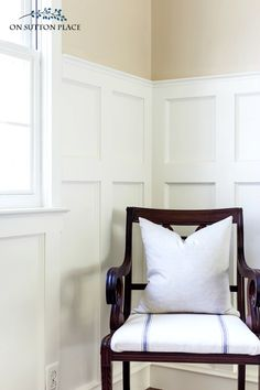 Board and BattenWainscoting.See the one detail that takes this board and batten wall project to the next level!