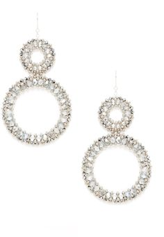 Miguel Ases Silver & Beaded Circle Drop Earrings on shopstyle.com