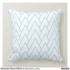 Mountain Throw Pillow Accent your home with custom pillows from Zazzle and make yourself the envy of the neighborhood. Made from high-quality Simplex knit fabric, these 100% polyester pillows are soft and wrinkle-free. The heavyweight stretch material provides beautiful color.. #pillow #square #homedecor #home #interiordesign #interiors #interiorstyling #bedroom #bedroomdecor #oblong #zazzle #zazzlemade #zazzlecom #zazzlestore #white #pattern #blue #square
