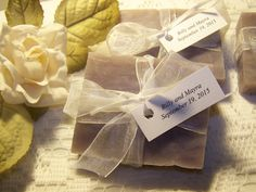 40 bridal shower favors, Lilacs, Lillies, and Lace. Chic wedding, Special design. Wedding favors by CountryChicSoaps on Etsy