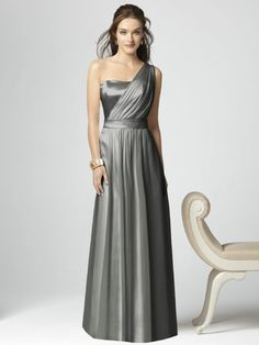siler bridesmaid dresses  | asymmetric silver bridesmaid dresses