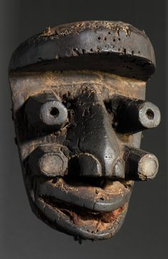 Africa | Guere-Wobe mask from the Ivory Coast | Wood, pigment || September 2013 catalogue