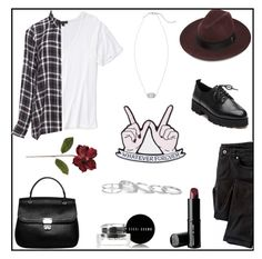 """""""Cute grunge"""" by lostandfound92 ❤ liked on Polyvore featuring Topshop, Wrap, Ash, Zizzi, Super Duper, Beauty Is Life, Bobbi Brown Cosmetics, Kendra Scott, Sara M. Lyons and Frontgate"""