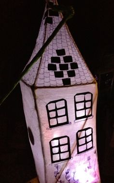 Willow and wet tissue lantern idea/ townhouse