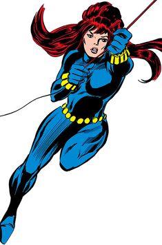 Black Widow Marvel Comics) in mid-swing on her line Marvel Comic Character, Marvel Comic Books, Comic Movies, Comic Book Characters, Marvel Characters, Comic Books Art, Comic Art, Marvel Comics Superheroes, Marvel Comic Universe