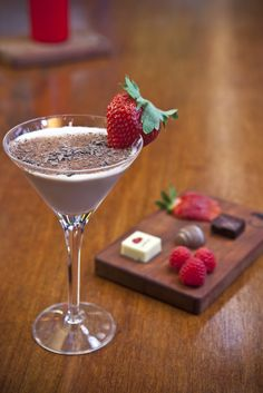Mint Chocolate Martini at AYZA Wine and Chocolate Bar, NYC.  i mean this is just perfect