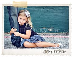 Daughter with father's leg