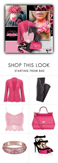 """""""I Wear Pink For...YOU!"""" by jgee67 ❤ liked on Polyvore featuring Public Library, maurices, Wrap, River Island, Dolce&Gabbana, The Bradford Exchange, Paul Andrew, Brighton and IWearPinkFor"""