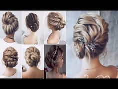 Holiday Hairstyles For Short Hair || EASY UPDO Tutorials FOR SHORT HAIR || New Years Eve - YouTube