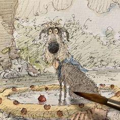 Keeping Cool. #inkandwatercolor #tobyandhisredball #dogart #originalartwork #inkdrawing #characterdesign #illustration #catdrawing #cool#paddlingpool#artistsketchbook #sketchbook #Regram via @CEXkpKXHMfX Sketchbook Pages, Cat Drawing, Dog Art, Original Artwork, Character Design, Cool Stuff, Illustration, Artist, Beautiful