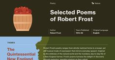 This study guide and infographic for Robert Frost's The Poems of Robert Frost offer summary and analysis on themes, symbols, and other literary devices found in the text. Explore Course Hero's library of literature materials, including documents, Q&A pairs, and flashcards created by students and educators.