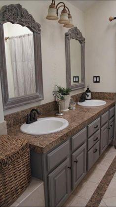bathroom painted cabinets, bathroom cabinets paint, bathroom cabinet paint ideas, french linens, cabinet colors, paint colors, master baths, chalk paint bathroom cabinets, chalk paint cabinets