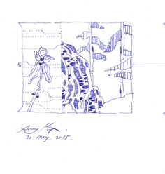 17 Napkin Sketches by Famous Architects,Peter Kulper. Image Courtesy of NewSchool and AIAS San Diego