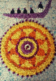 Onam pookalam.. Festival of flowers