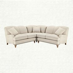 lounge your days away in the outerbanks sectional with its extra deep seating! wrapped in a woven creamy colored fabric, you'll never tire of this so