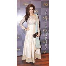 Bollywood Replica -Karishma Tanna Designer Cream Long Anarkali Suit- 5426(SIA -S-5400)