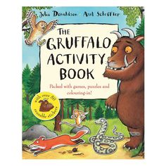 The Gruffalo Activity Book by Julia Donaldson and Axel Scheffler (Paperback) Gruffalo Activities, Gruffalo Party, The Gruffalo, Book Activities, Nature Activities, Create Your Own Story, Scary Stories, Business For Kids, Pranks