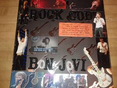 My Bon Jovi concert scrapbook page