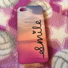 iPhone 5/5s case!☎️ Sunset over water smile case! Claire's Other