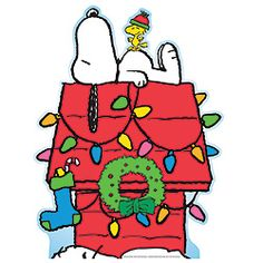 Snoopy and Woodstock Christmas Lights Lifesize Cardboard Cutout. wish this was in stock :( Peanuts Christmas, Christmas Rock, Christmas Cartoons, Charlie Brown Christmas, Christmas Clipart, Christmas Colors, Christmas Lights, Christmas Crafts, Snoopy Christmas Decorations