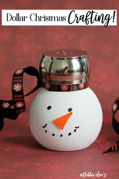 Dollar crafting with Debbiedoo's. All Things Christmas, Christmas Fun, Christmas Ornaments, Dollar Store Crafts, Dollar Stores, Christmas Projects, Holiday Crafts, Christmas Gift Exchange, Holidays And Events