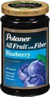 I love this brand any flavor on my whole grain toast.  They make a sugar free one and there are no high fructose corn syrups (HFCS) in Polaner All Fruit or Polaner Sugar Free Preserves.