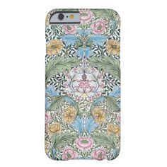Shop William Morris Myrtle Pattern iPhone 6 case created by Bramblewood.