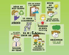 Spraoi online - all kinds of posters and charts in Irish/Gaeilge Primary Teaching, Primary School, Winning Lotto, 5th Class, Irish Language, Green School, Geography, Elf, Activities
