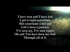 Colton Dixon - Through All of It [Lyrics] [HD]   You have been my God through ALL of it... so thankful!