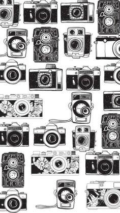 fundo de câmeras