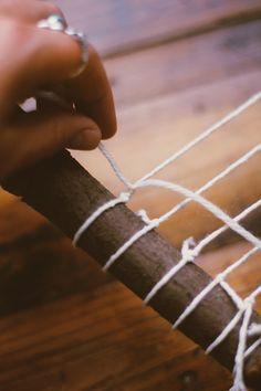 diy branch weaving 3