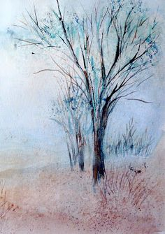 Watercolor tree sketches | The Adventures of a Gardening Artist --- inspiration for trees in quilts