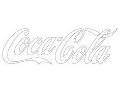 coca cola stencil free printable - Google Search