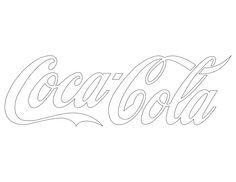 coca cola stencil free printable - Google Search