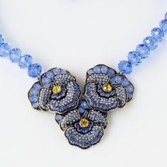 """A Pleasing Pansy"" Necklace 